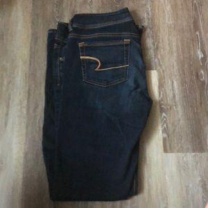 American Eagle kick boot denim jeans size 10